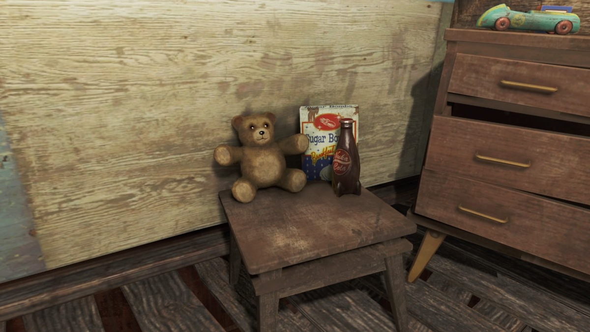 Some Fallout 4 easter egg teddy bears
