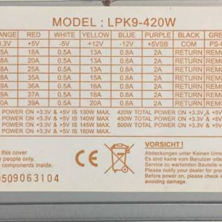 Figure 2: Another sticker, just so you can see a different type with multiple models listed